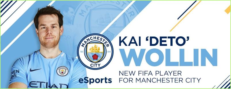 Manchester City signs Kai 'Deto' Wollin esports bets