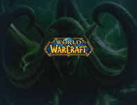 world of warcraft character and logo